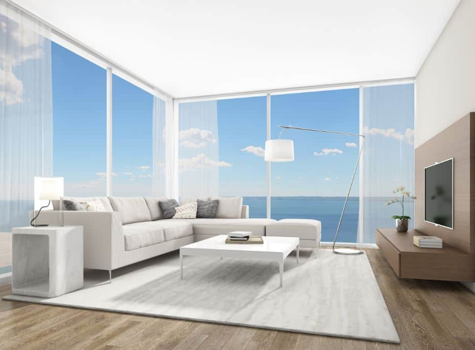 Nautique Living Room 2 Bedroom Condo Unit