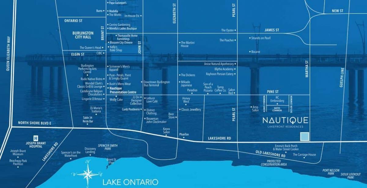 Nautique Condos Location in Burlington Ontario