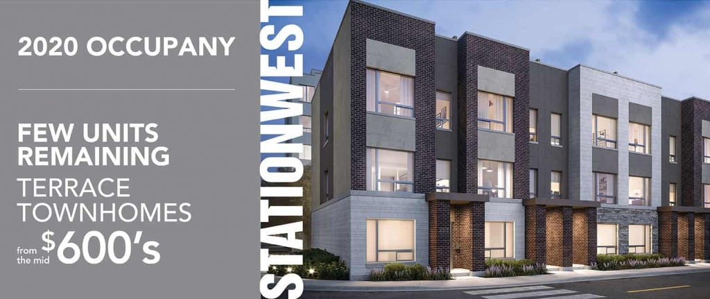 StationWest Terrace Townhomes for Sale Pre-contruction