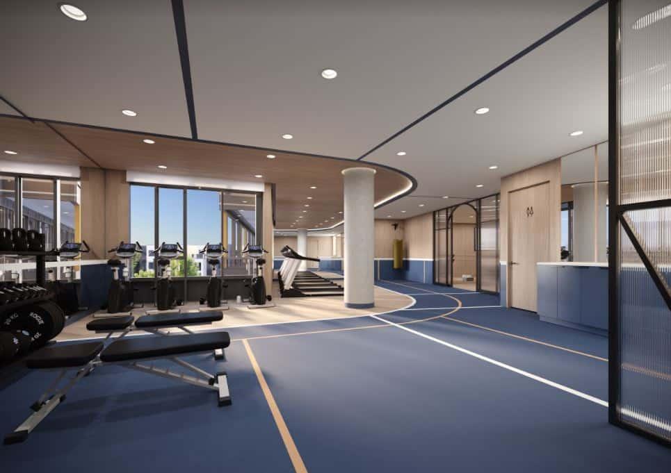 Realm Condos Workout Gym Facility