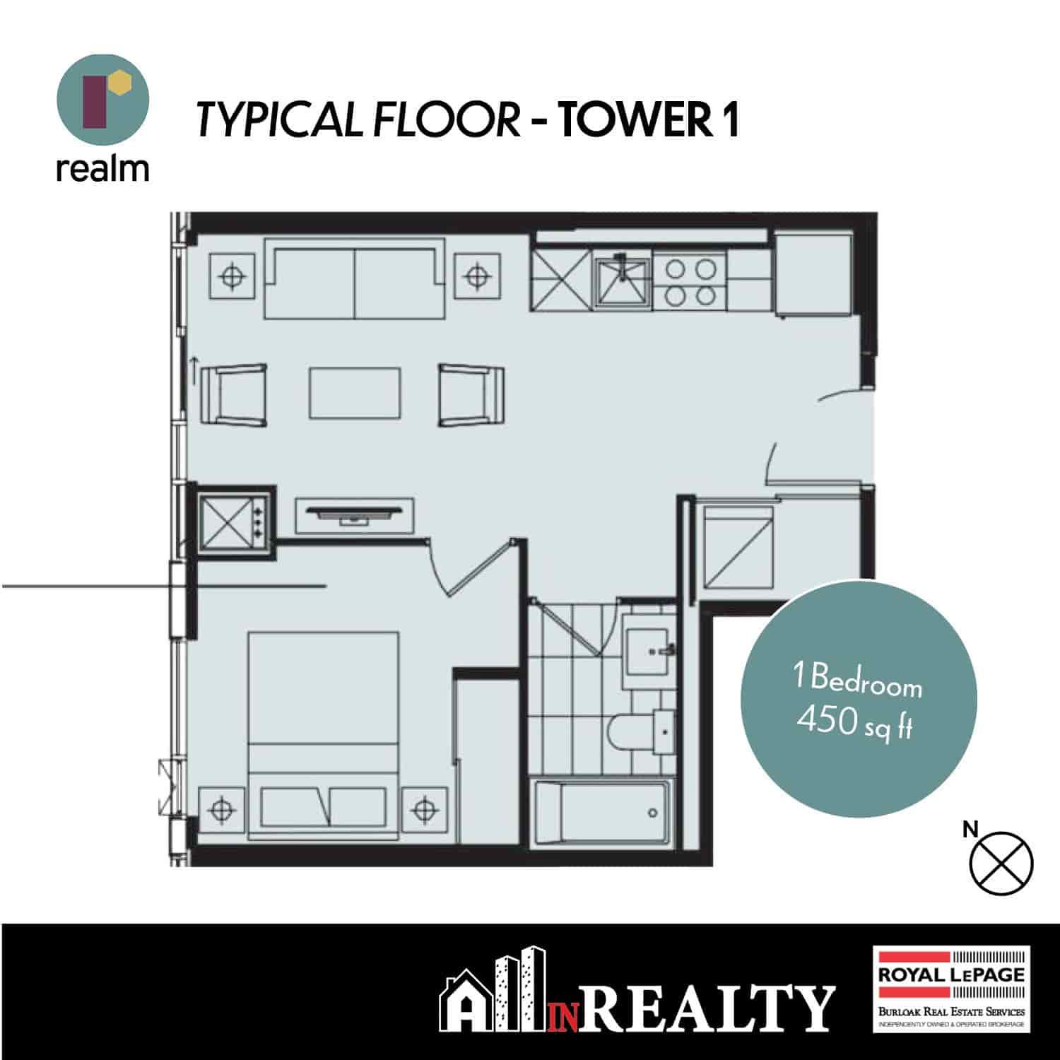 Realm 1 Bed 450 sf